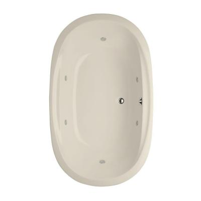 Hydro Systems Studio Dual Oval 6.2 ft. Reversible Drain Whirlpool Tub in Biscuit