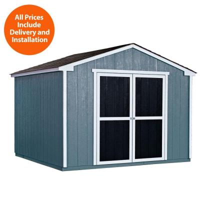 10 ft. x 10 ft. Wood Storage Shed