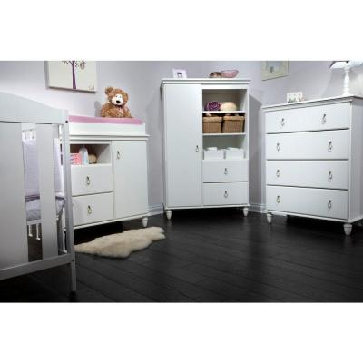 South Shore Moonlight 2-Drawer Pure White Changing Table