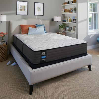 Response Performance 12.5 in. Cushion Firm Tight Top Mattress Set with 9 in. High Profile Foundation