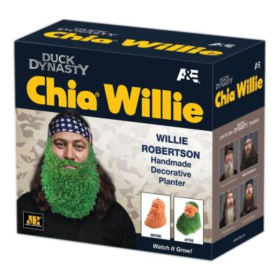 Chia Chia Pet Duck Dynasty Willie Robertson containing Salvia Hispanica