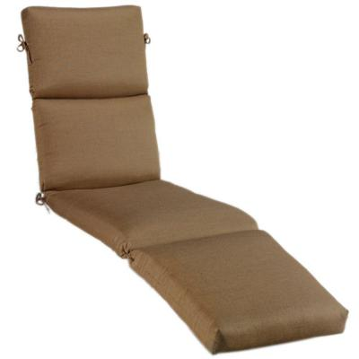 Home Decorators Collection Sunbrella Teak Large Outdoor Chaise Lounge Cushion-DISCONTINUED