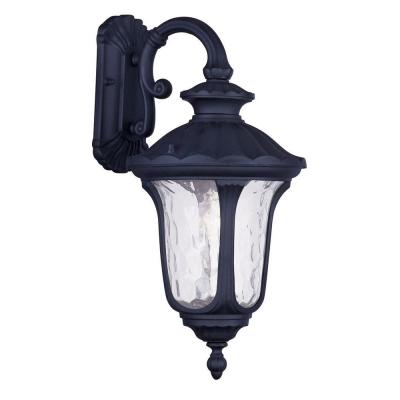 Filament Design Providence Wall-Mount 1-Light Outdoor Black Incandescent Lantern