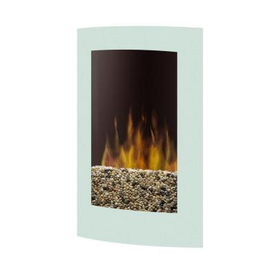 Dimplex 23 in Wall Mount Electric Fireplace in White
