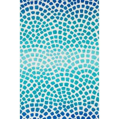 Cassidy Lifestyle Collection Aqua/Blue 3 ft. 6 in. x 5 ft. 6 in. Area Rug