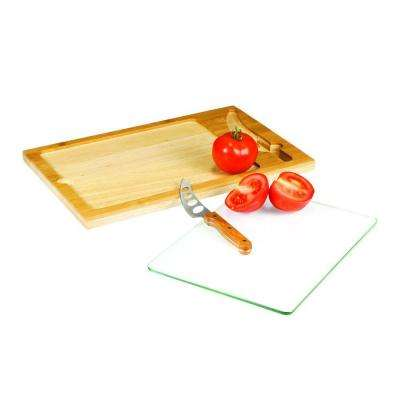 Icon Cutting Board/Tray and Knife Set
