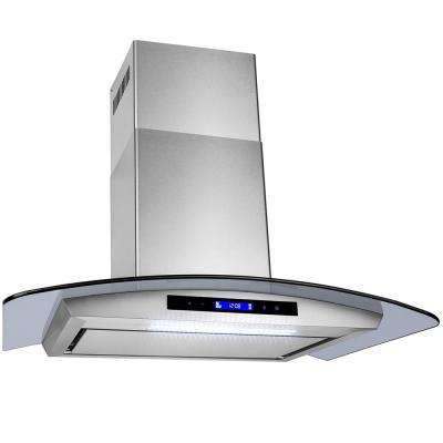 30 in. Convertible Kitchen Wall Mount Range Hood in Stainless Steel with Tempered Glass, LEDs and Touch Control