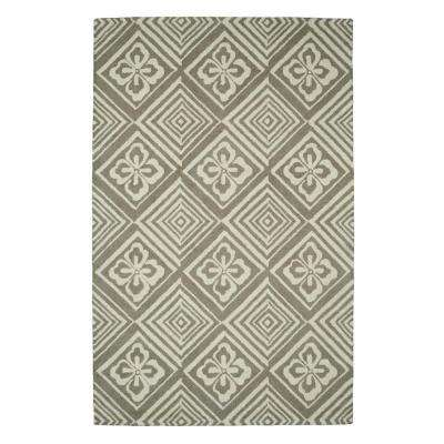 Palace Silver 4 ft. x 6 ft. Indoor Area Rug