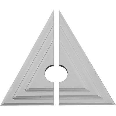 19 in. W x 16-5/8 in. H x 1-1/8 in. P Triangle Ceiling Medallion (2-Piece)