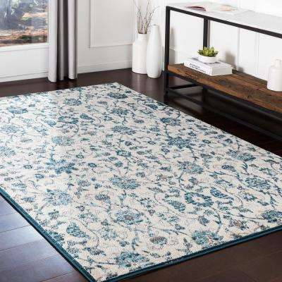 Zora Teal 7 ft. 10 in. x 10 ft. 3 in. Oriental Area Rug