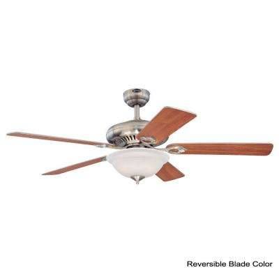 Fairview 52 in. Indoor Brushed Nickel Finish Ceiling Fan