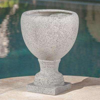 Shira Light Grey Cast Stone Urn