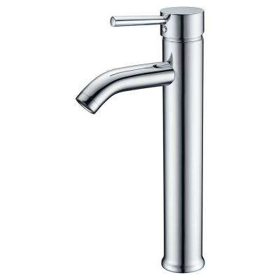 Fann Single Hole Single-Handle Vessel Bathroom Faucet in Polished Chrome