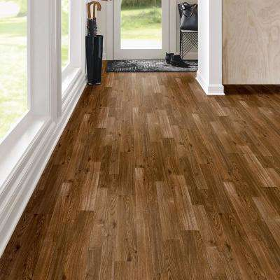 FlexStep Value Plus 12 ft. Width x Custom Cut Length Chestnut Brown Residential Vinyl Sheet Flooring