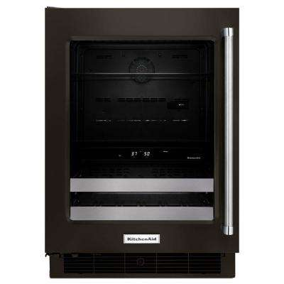 24 in. W 4.8 cu. ft. Dual Zone 14-Bottle Wine Cooler and Beverage Center