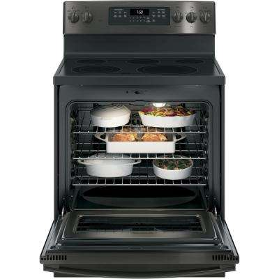 5.3 cu. ft. Electric Range with Self-Cleaning Convection Oven in Black Stainless Steel, Fingerprint Resistant