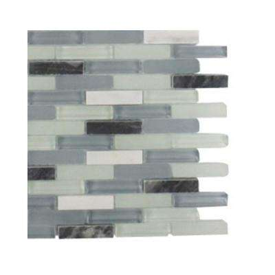 Cleveland Bendemeer Mini Brick 3 in. x 6 in. x 8 mm Mixed Materials Mosaic Floor and Wall Tile Sample