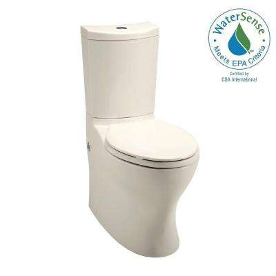 Persuade 2-piece 1.0 GPF High-Efficiency Dual Flush Elongated Toilet in Biscuit