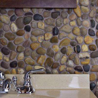 Riverstone Multi 11-3/4 in. x 11-3/4 in. x 12 mm Natural Stone Mosaic Tile