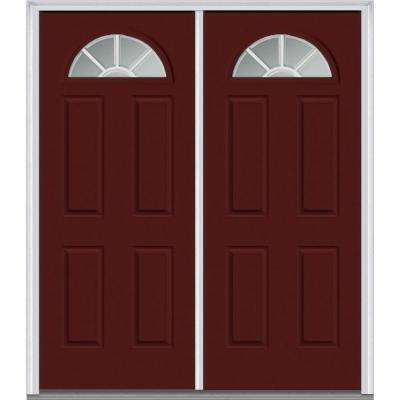 4 Panel Steel Double Door Exterior Doors Doors Windows
