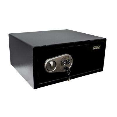 Steel Safe 1.0 cu. ft. Steel Security Laptop/Hotel Safe with Digital Lock Black