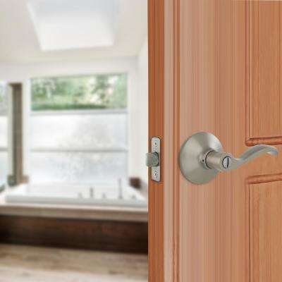 Naples Satin Nickel Bed/Bath Privacy Door Lever