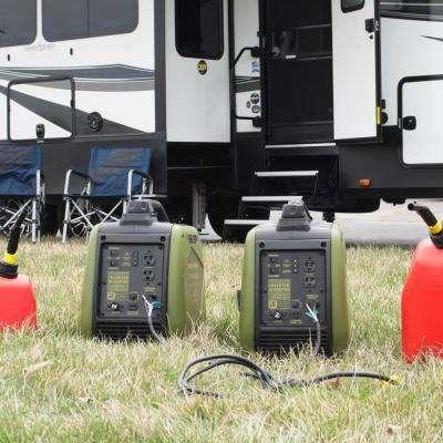 4,400/3,600-Watt Gasoline Powered Recoil Start Portable Digital Inverter Generator with Parallel Capability