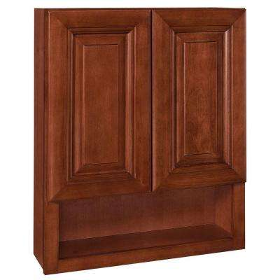 24x30x8 in. Lyndhurst Assembled Vanity Wall Boutique in Cabernet