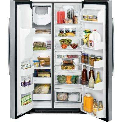 25.3 cu. ft. Side by Side Refrigerator in Stainless Steel, ENERGY STAR