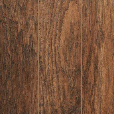 Take Home Sample - Hand-Scraped Medium Hickory Laminate Flooring - 5 in. x 7 in.