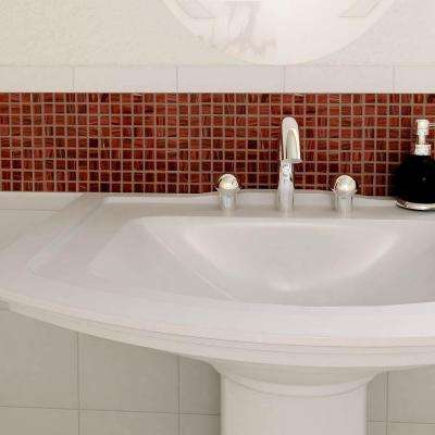 Coppa Auburn 12 in. x 12 in. x 4 mm Glass Mosaic Tile