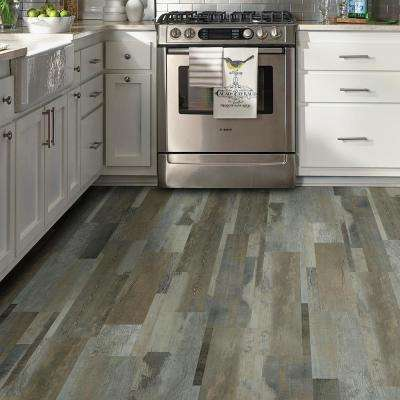 Grey Distressed Wood Multi-Width Look 6 in. x 36 in. Peel and Stick Vinyl Plank (36 sq. ft. / case)