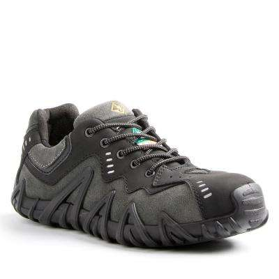 Spider Men's Black/Grey Leather and Suede Safety Shoe