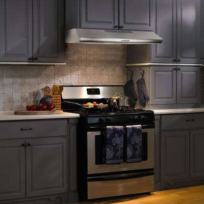Marvelous Ducted Under Cabinet Range Hood In Stainless Steel With LEDs And Push  Buttons