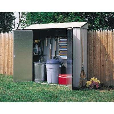 7 ft. W x 2 ft. D 2-Tone White Galvanized Metal Storage Locker Kit