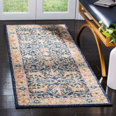Madison Navy/Cream 2 ft. 3 in. x 10 ft. Runner Rug