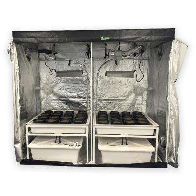 4 ft. L x 8 ft. W x 7 ft. H Hydro Grow Room Deluxe Complete System