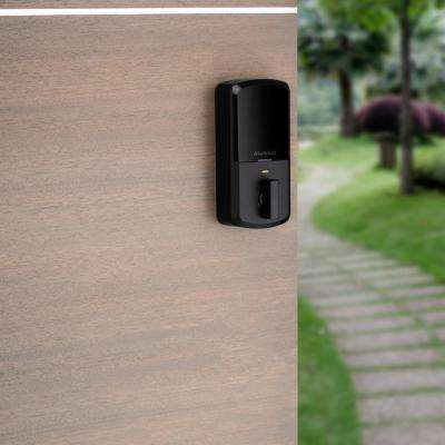 HALO Matte Black Touchscreen Wi-Fi Electronic Single-Cylinder Smart Lock Deadbolt featuring SmartKey Security