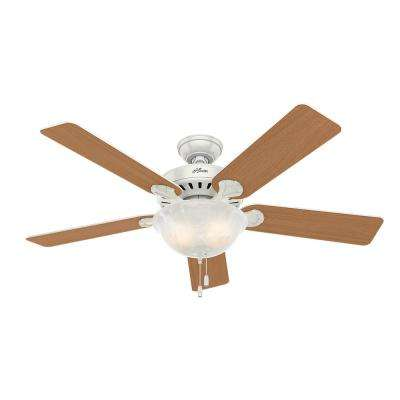 Pro's Best Five Minute 52 in. Indoor White Ceiling Fan with Light Kit
