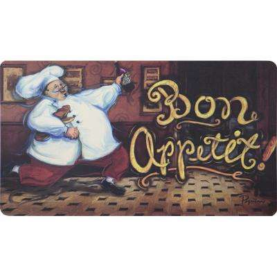 Running Chef 20 in. x 36 in. Kitchen Mat