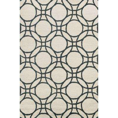 Taylor Lifestyle Collection Ivory/Black 5 ft. x 7 ft. 6 in. Area Rug