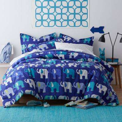 Elephant Parade 200-Thread Count Cotton Percale Comforter