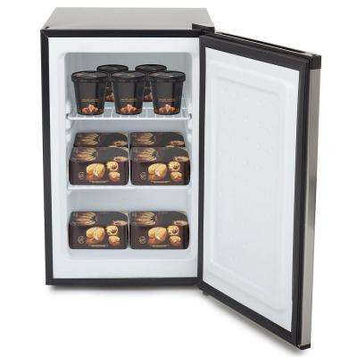 2.1 cu. ft. Upright Freezer with Lock in Stainless Steel