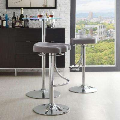 Sophora 22-32 in. Adjustable Bar Stool with Swivel in Chrome