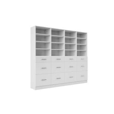 Calabria General Storage 15 in. D x 96 in. W x 84 in. H Bianco Wood Closet System