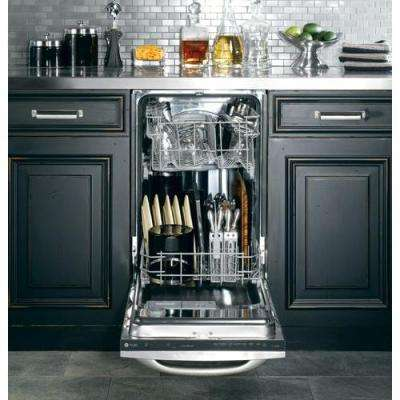 Profile 18 in. Top Control Dishwasher in Stainless Steel with Stainless Steel Tub