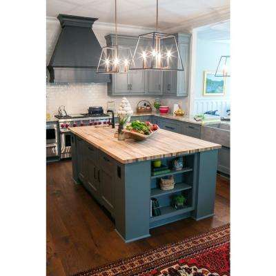 6 ft. L x 3 ft. D x 1.5 in. T Butcher Block Countertop in Unfinished Maple