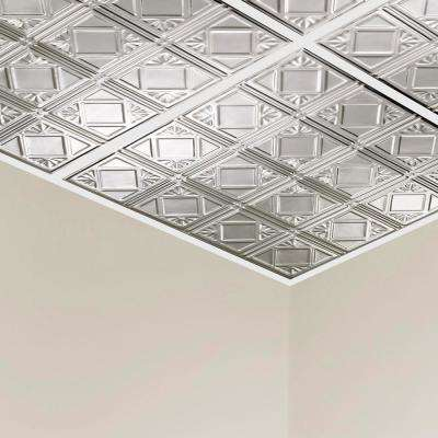 Ludington 2 ft. x 2 ft. Lay-In Tin Ceiling Tile in Clear (20 sq. ft./case)