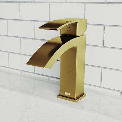 Satro Single Hole Single-Handle Bathroom Faucet in Matte Gold