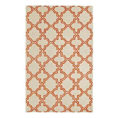 Palace Ivory/Orange 4 ft. x 6 ft. Indoor Area Rug